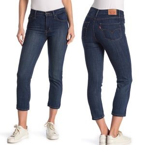 NWT Levi's 724 High Rise Straight Leg Cropped Jean